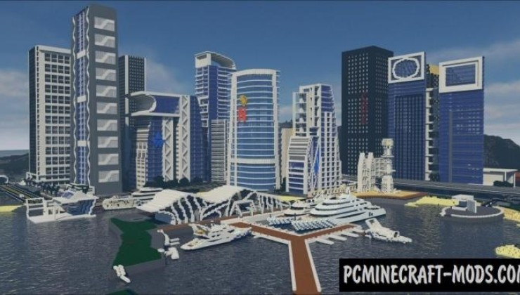 Gentle City - Buildings Map For Minecraft