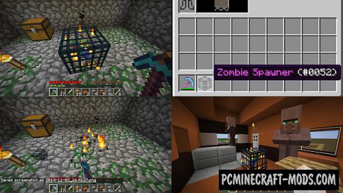MineSpawner - Surv Block Mod For Minecraft 1.8, 1.7.10