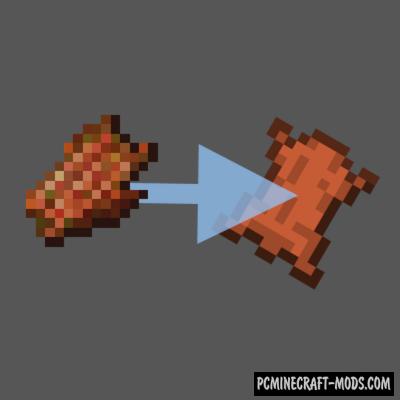 Rotten Flesh to Leather - Tweak Mod For Minecraft 1.16.5