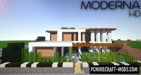 Moderna HD - Modern Craft 256x Resource Pack For Minecraft 1.14.4