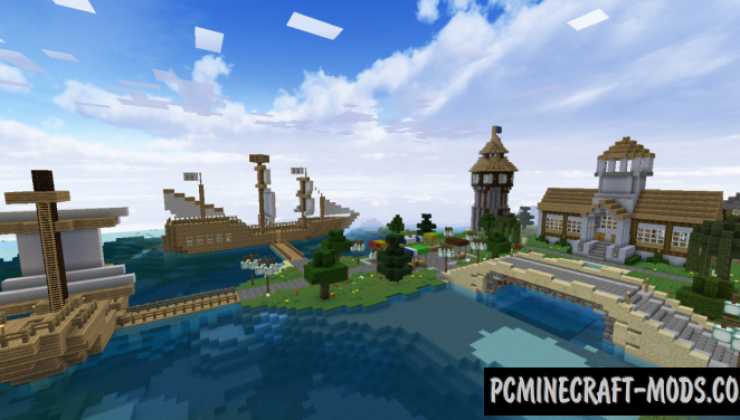 Angelville Castle Midevil - Town Map Minecraft