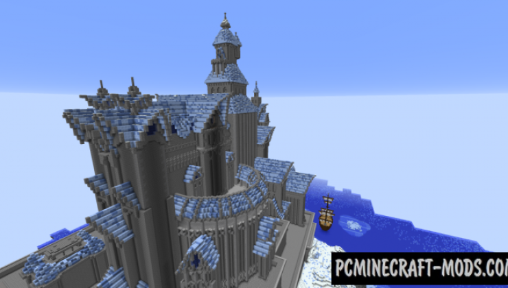 Fryst Fortress - Castle Map For Minecraft