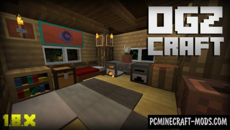 OGZCraft 8x Resource Pack For Minecraft 1.16.5, 1.16.4