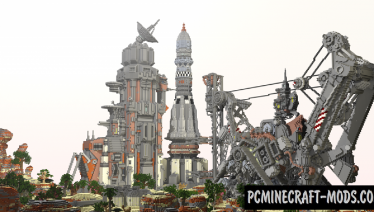 Solitary Launch Base - 3D Art Map For Minecraft