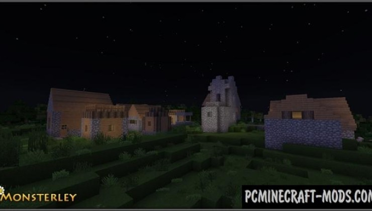 Monsterley 128x Resource Pack with Shaders MC 1.16.5, 1.16.4