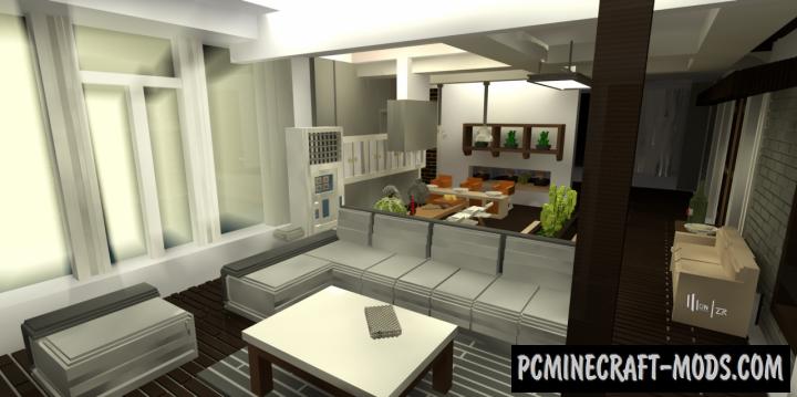 Huge modern villa Map For Minecraft