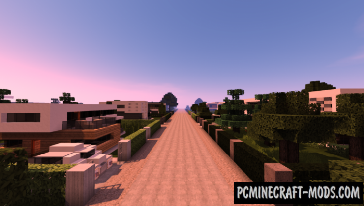 Modern Suburb Map For Minecraft