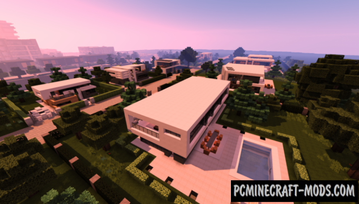 Modern Suburb Map For Minecraft 1 15, 1 14 4 | PC Java Mods