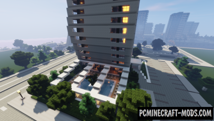 Modern Hotel - Building Map For Minecraft