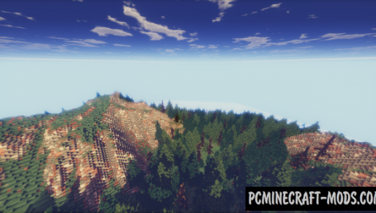 Default Hyper Realistic Terrain Map For Minecraft