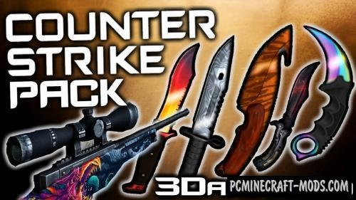 3D CS:GO Animated PvP Resource Pack For Minecraft 1.10.2