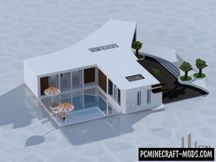 Huge Modern Villa - House Map For Minecraft