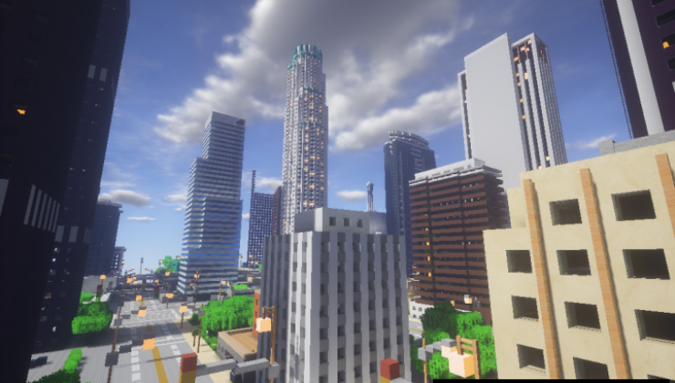 Downtown Los Angeles - City Map For Minecraft