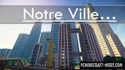Notre Ville Map For Minecraft
