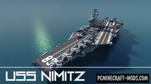 USS Nimitz Map For Minecraft