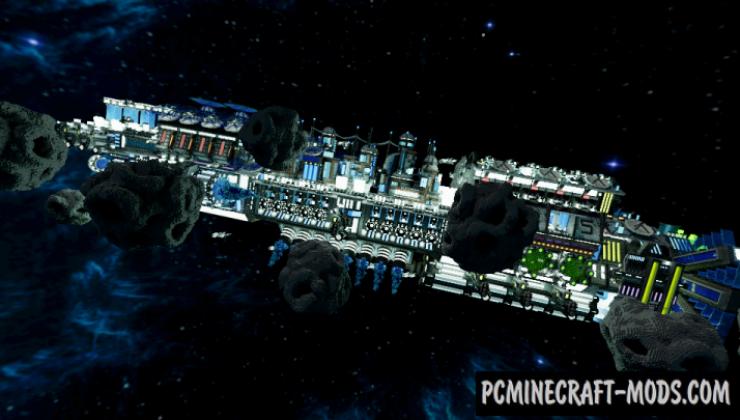 BC Comet - Survival, 3D Art Map For Minecraft