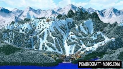 Working Ski Resort - Minigames Map For Minecraft