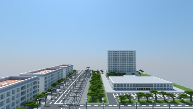 Spacia City - Buildings, House Map For Minecraft