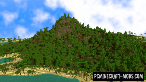 Tropical Island - Custom Terrain Map For Minecraft