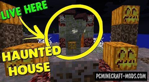 Smallest Halloween Haunted House Command Block For Minecraft - Minecraft hauser comand