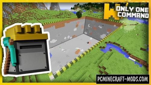 Customizable Quarry Command Block For Minecraft 1.11.2
