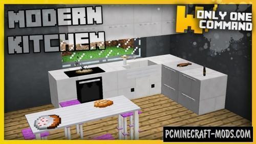 Modern Kitchen Command Block For Minecraft 1.11.2