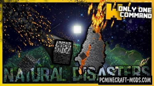 Natural Disasters Command Block For Minecraft 1.11.2