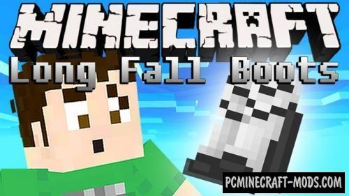 Long Fall Boots - Armor Mod For MC 1.16.4, 1.12.2