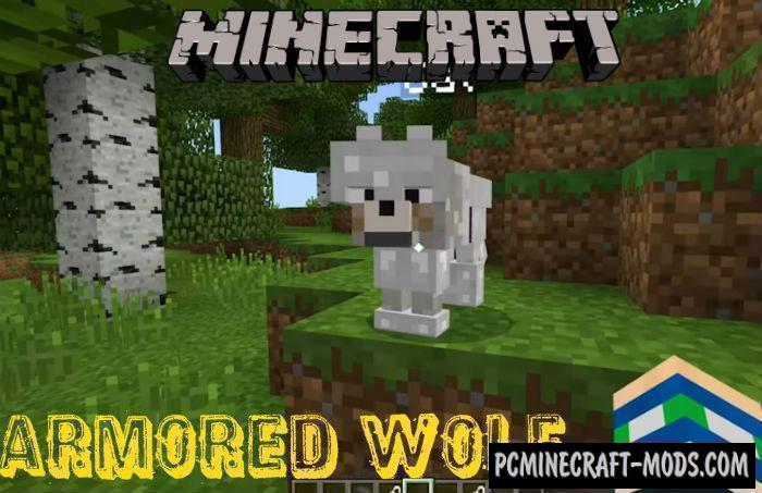 Armored Wolf Mod For Minecraft PE 1.6.0, 1.5.3, 1.4.4