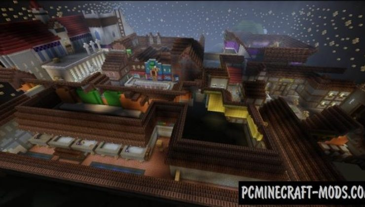 Traverse Town Map For Minecraft 1.15.1, 1.14.4 | PC Java Mods