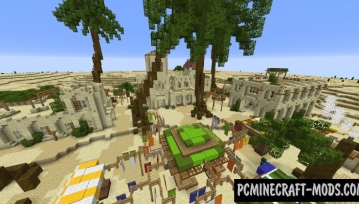 Arabian Village in Desert Map For Minecraft