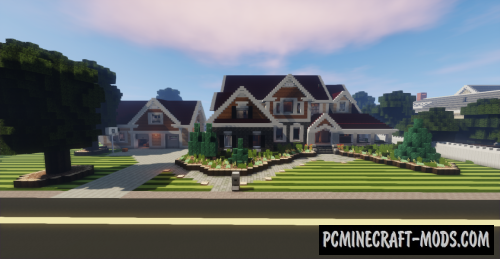Large Suburban House Map For Minecraft 1 13 1 1 12 2 Pc