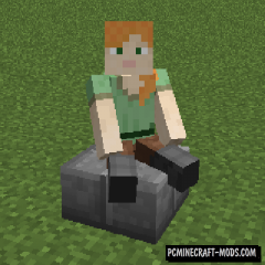 Sit - Player Realistic Animation Mod For MC 1.16.4, 1.15.2