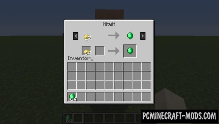Villager Trade Tables - Tweak Mod For Minecraft 1.12.2, 1.11.2