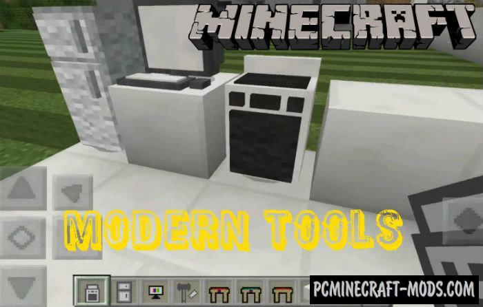 Modern Tools Minecraft PE Addon 1.2.10, 1.2.9, 1.2.8