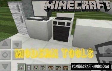 Modern Tools Minecraft PE Addon 1.4.4, 1.4.2, 1.3.0