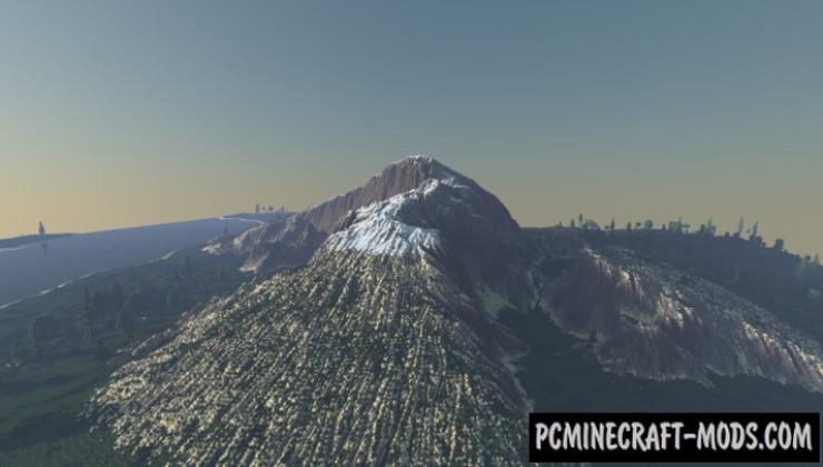 Mountain View - Custom Terrain Map For Minecraft
