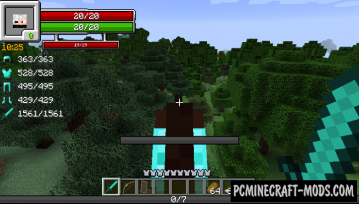 RPG-Hud - GUI, HUD Mod For Minecraft 1.16.2, 1.15.2, 1.12.2