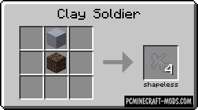 Clay Soldiers Mod For Minecraft 1.12.2, 1.10.2, 1.7.10