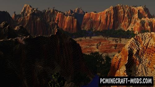 Desert Terraforming Map For Minecraft
