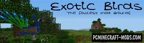 Exotic Birds - New Creatures Mod For Minecraft 1.15.2, 1.14.4, 1.12.2