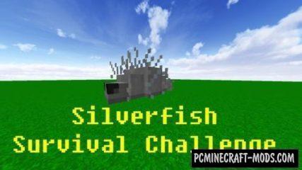 Silverfish Survival Challenge Command Block For Minecraft 1.12.2