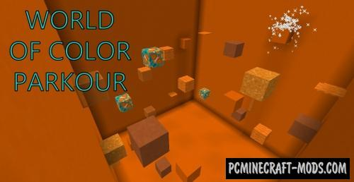 World Of Color Parkour Map For Minecraft