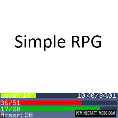 Simple RPG Mod For Minecraft 1.12.2, 1.11.2, 1.10.2