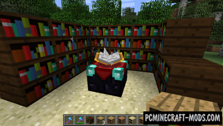 Giacomo's Bookshelf Mod For Minecraft 1.12.2, 1.11.2