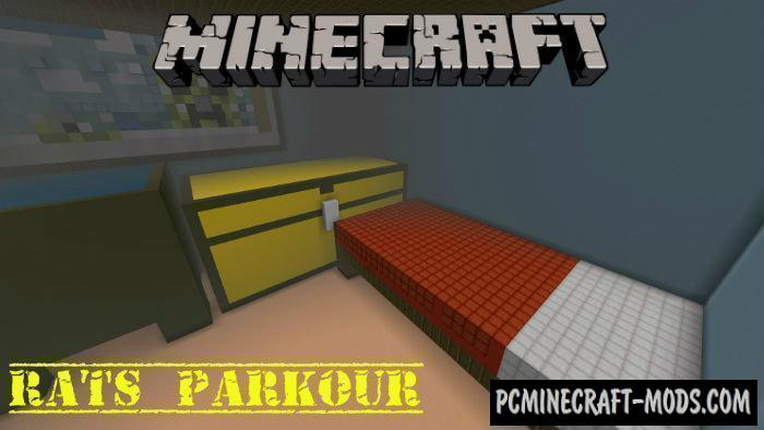 Rats Parkour Minecraft PE Map 1.4.0, 1.3.0, 1.2.13