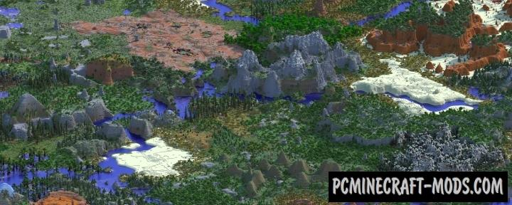 Open Terrain Generator Mod For Minecraft 1.12.2, 1.11.2, 1.10.2