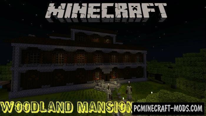 Woodland Mansion - Redstone Minecraft PE Map 1.4.0, 1.2.13