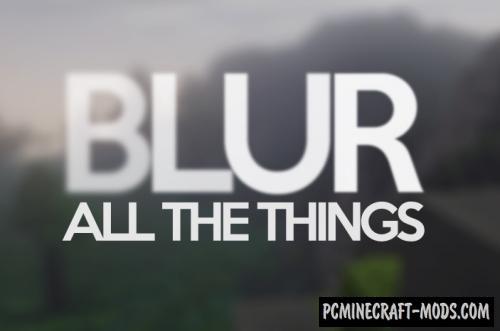 Blur - GUI/HUD Mod For Minecraft 1.17, 1.16.5, 1.12.2