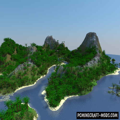 Tropic Volcano-Island Map For Minecraft